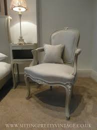 Louis Xv Bedroom Furniture French Vintage Louis Xv Bedroom Armchair In Grey Linen And Chalk
