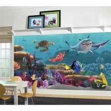 Sea Turtle Bathroom Accessories New Xl Finding Nemo Wallpaper Mural Kids Room Or Bathroom