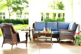 bay outdoor dining set furniture courtesy home depot bays spring haven collection patio hampton bistro crown
