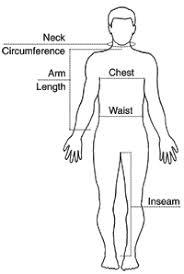 Men Body Chart Body Measurements For Men Lamasa Jasonkellyphoto Co