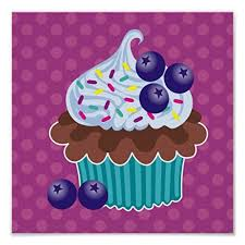 blueberry cupcake canvas print created by sandygrafik  on cupcake canvas print wall art with 36 best sobre cupcakes images on pinterest cupcake art petit