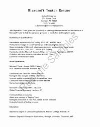 Qa Tester Resume Sample Resume Samples For Experienced Testing Professionals Fresh 100 Year 23