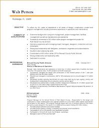 Construction Management Resume Berathen Com