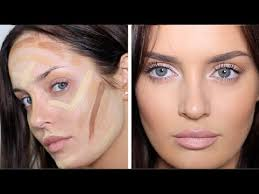 updated contouring highlight routine very full coverage makeup