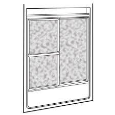 Showerite Framed Sliding Shower Doors - American Standard