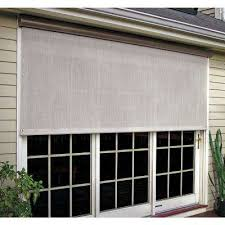 exterior window shades. Brilliant Window Coral White Vinyl Exterior Solar Shade  For Window Shades The Home Depot