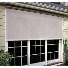 c white vinyl exterior solar shade