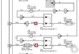 2006 toyota tundra headlight door issue here is the wiring schematic directly from the fsm the red boxes indicate where i have tied into the circuit