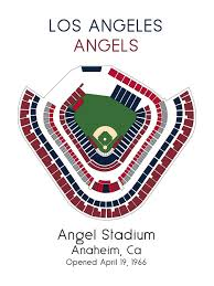 Los Angeles Angels Baseball Map Mlb Stadium Map Ballpark Map Baseball Stadium Map Gift For Him Stadium Seating Chart Man Cave