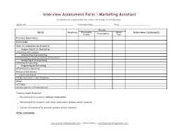 candidate assessment form sample job candidate evaluation form template interview assessment