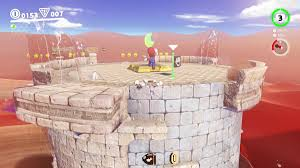 one of the easiest moons in the sand kingdom as its your first quest in this area simply keep heading up the large tower the game sets as your first way