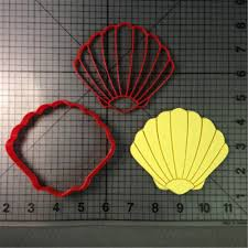 Seashell Design Seashell Design Cookie Cutter Set Custom Made 3d Printed Fondant