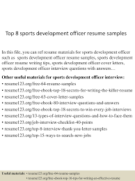 Top   Sports Development Officer Resume Samples Top sportsdevelopmentofficerresumesamples              Lva  App     Thumbnail   Top   Sports