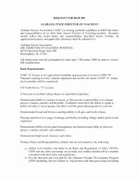Coaching Resume Samples How to Make A Coaching Resume New Football Coaching Resume Examples 25