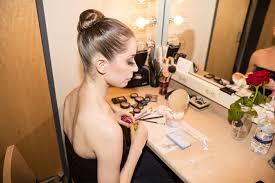 prinl dancer rebecca krohn prepares for robert binet s the blue of distance she backse with the new york city ballet dancers 1902 vine theatrical makeup