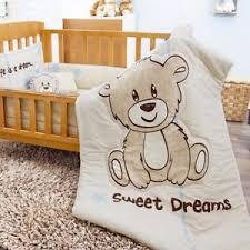 teddy bear crib sheet new teddy bear crib bedding set includes 6 piece ebay