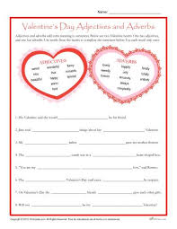 valentine s day adjectives and adverbs