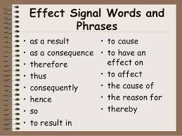 and effect essay words to use cause and effect essay words to use