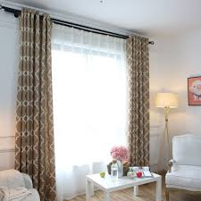 Plaid Curtains For Living Room Aliexpresscom Buy Modern Window Curtains Home Decoration