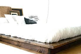 White Wood Platform Bed Minimalist Wood Bed Frame Minimalist Bed ...