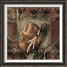 western cowboy hat by alma lee framed graphic art on framed western wall art with cowboy rustic western wall art wayfair
