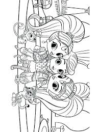 Coloring Pages Shimmer And Shine Coloring Pages Leah Shimmer And