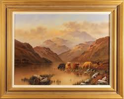 Wendy Reeves, Original oil painting on canvas, Highland Cattle 24x18ins,  Art Ref:WDR590