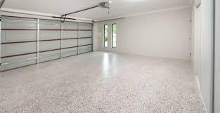 epoxy flooring garage. Red \u0026 White Flaked Epoxy Flooring Garage