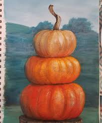 stacked pumpkins acrylic painting tutorial by angela anderson on you free full length live art