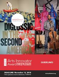 the arts innovator award funded by the dale and leslie chihuly foundation is an unrestricted award of 25 000 given annually to two washington state