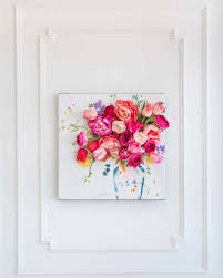 >3 d floral canvas wall art martha stewart 3d floral wall art