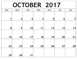 Small Picture October Monthly Calendar 2017 BigInf