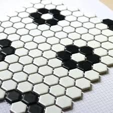black and white bathroom tile black and white color hexagon bathroom tile pattern black and white