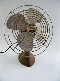 vintage manning bowman desk fan 1950s for display