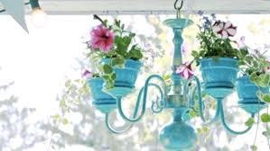 outdoor chandelier planter diy rustic 2