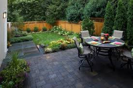Backyard landscaping ideas for small yards on a budget with dining table  and chair sets