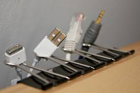 Neat Hack: Binder-Clip Cable-Keepers