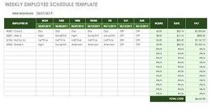 timesheet schedule weekly timesheet template excel weekly employee schedule template