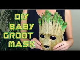 <b>Halloween Costume</b> DIY <b>BABY</b> GROOT MASK Costume - YouTube