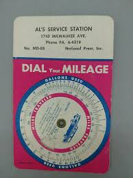 Vintage Dial Your Mileage Calculator Als Service Station Pennsylvania 1950s 60 Ebay