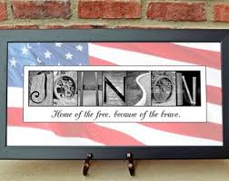 veteran s gifts personalized gifts for vets patriotic gifts alphabet photography photo name art wedding signage 10x20 print