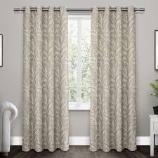 kilberry dove grey woven blackout grommet top window curtain
