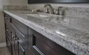 gray granite countertops bathroom remake grey kitchen sink commercial compartment faucet bathtub hot water integrated types sinks shower plum drain kit hole