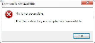 Hasil gambar untuk cara membuka folder yang corrupted and unreadable
