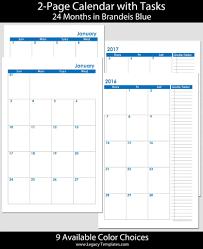 2016 2017 24 Months 2 Page Calendar Half Size Legacy