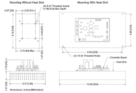 tc 4600 thermoelectric Water Source Heat Pump System Diagram tc 4600 with heat sink dimensions (110k)