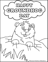 Small Picture Groundhog Day Coloring Page School Groundhog Day Pinterest