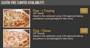 gluten free pizza at fathers pizza for fathers