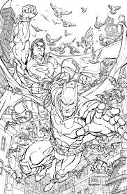 batman superman 28 coloring book variant cover by fred e williams ii