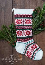 snowflake christmas stockings.  Snowflake White Wool Nordic Snowflakes Stocking From MerryStockings   Christmas  Throughout Snowflake Stockings E